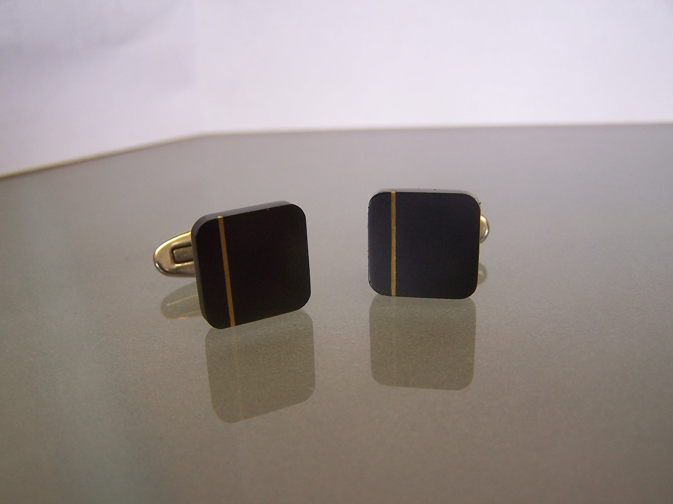 manchetknopen streep goud
