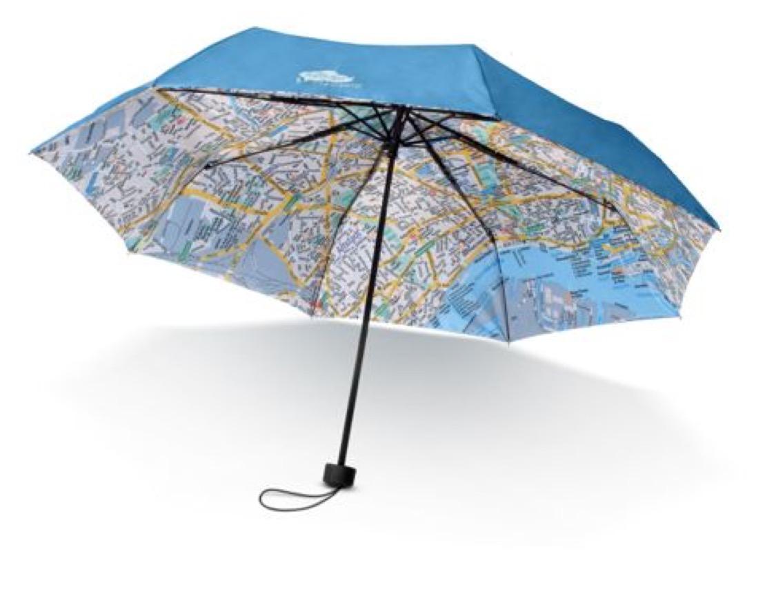 paraplu met stadsplan