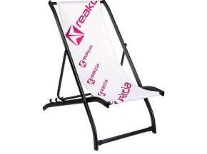 strandstoel met metalen frame