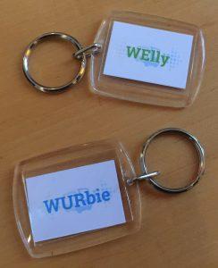 Sleutelhangers welly en wurbie wepod