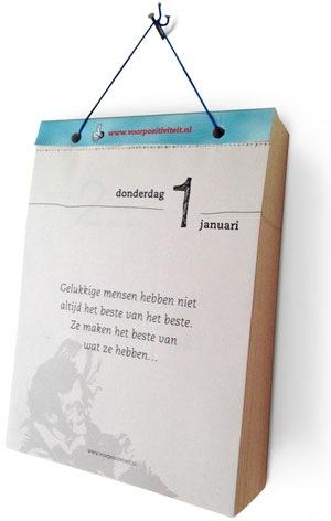 Gepersonaliseerde scheurkalender