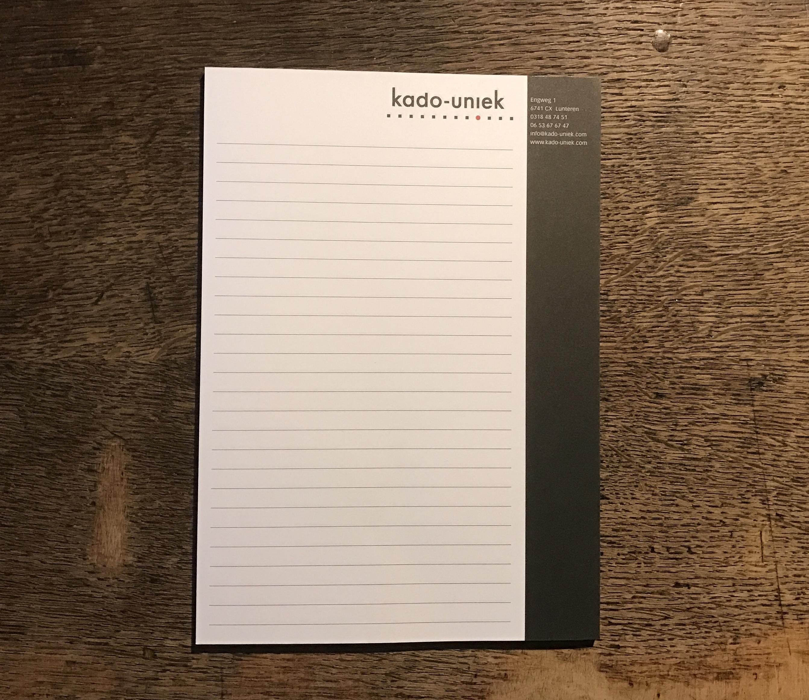 gepersonaliseerd notitieblok