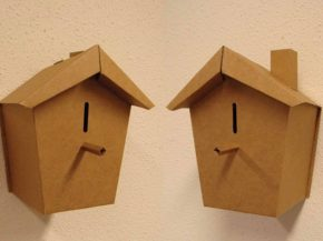 vogelhuisje als spaarpot