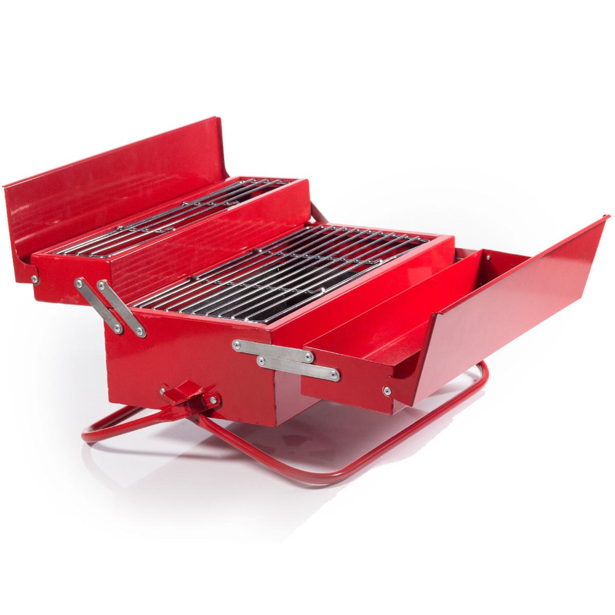uitklapbare barbecue gereedschapskoffer