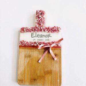 geboortekado houten plank