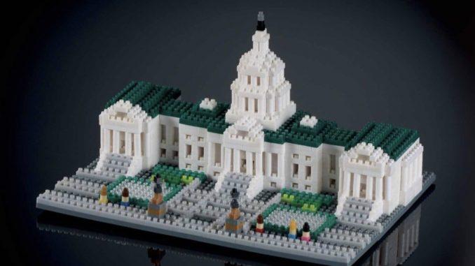 het witte huis in bouwsteentjes
